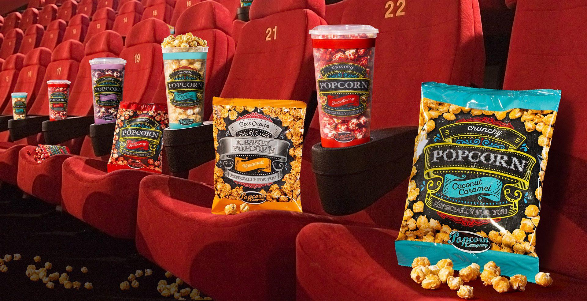 Verpackungsdesign Malvega: Popcorn