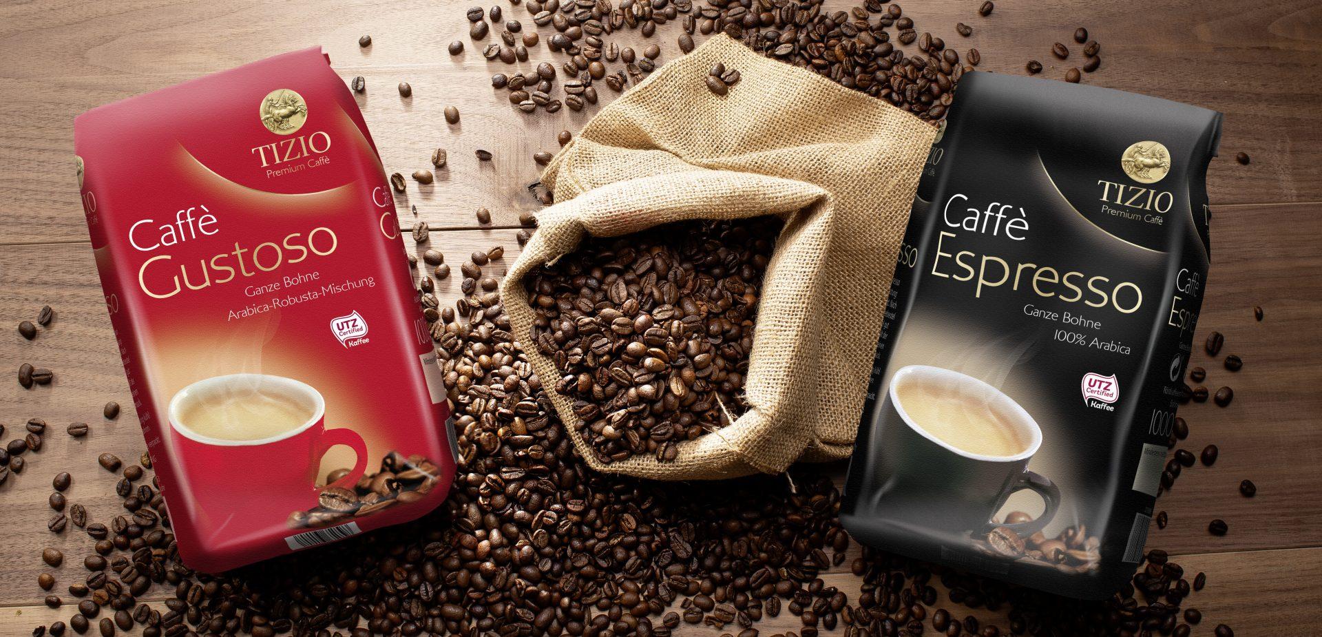 Verpackungsdesign Malvega: Tizio Caffe