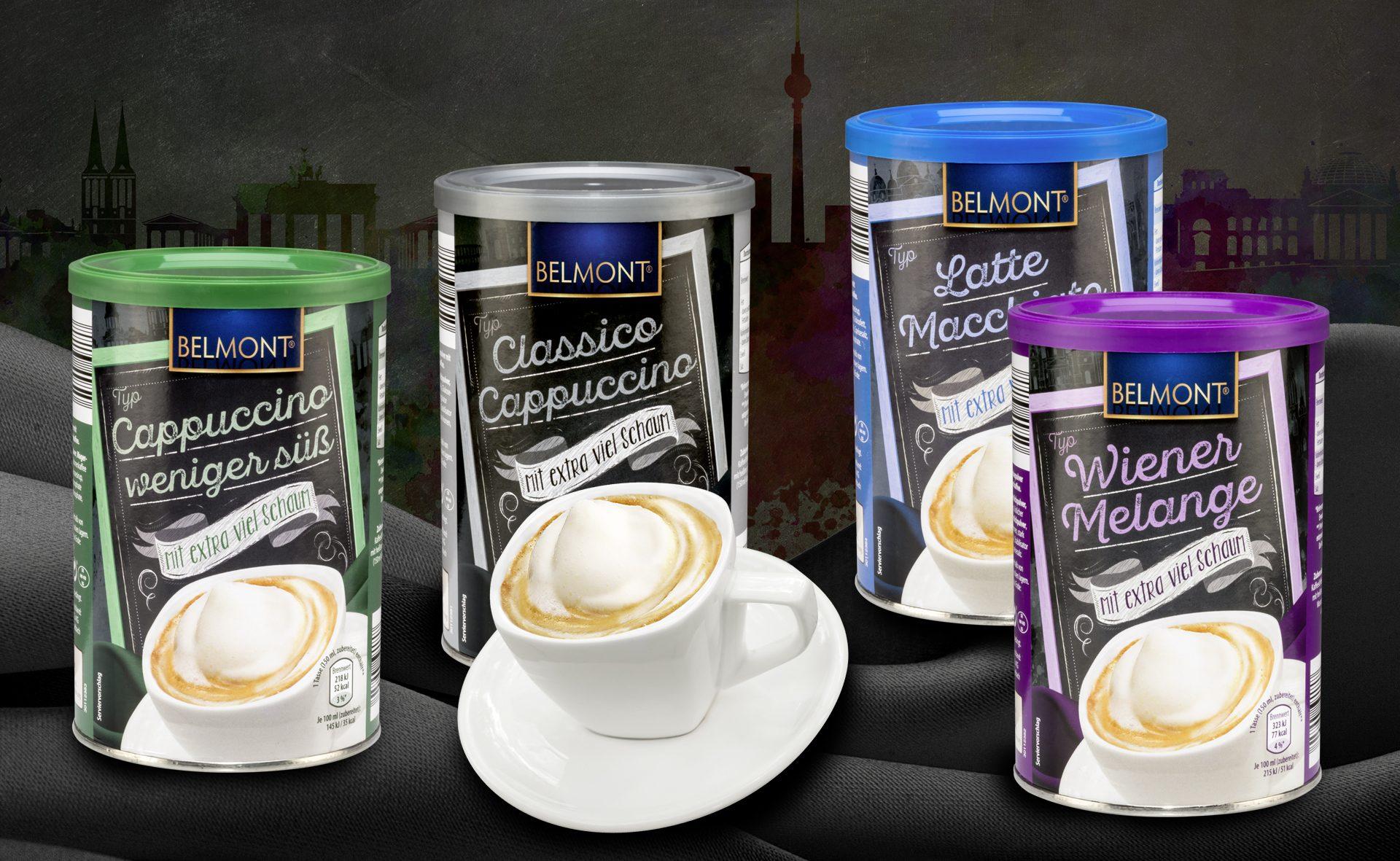 Verpackungsdesign Malvega: Belmont Cappuccino