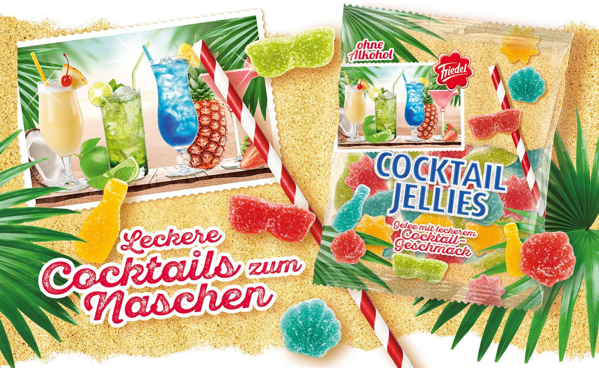 Verpackungsdesign Malvega - Referenz: CocktailJellies, Friedel