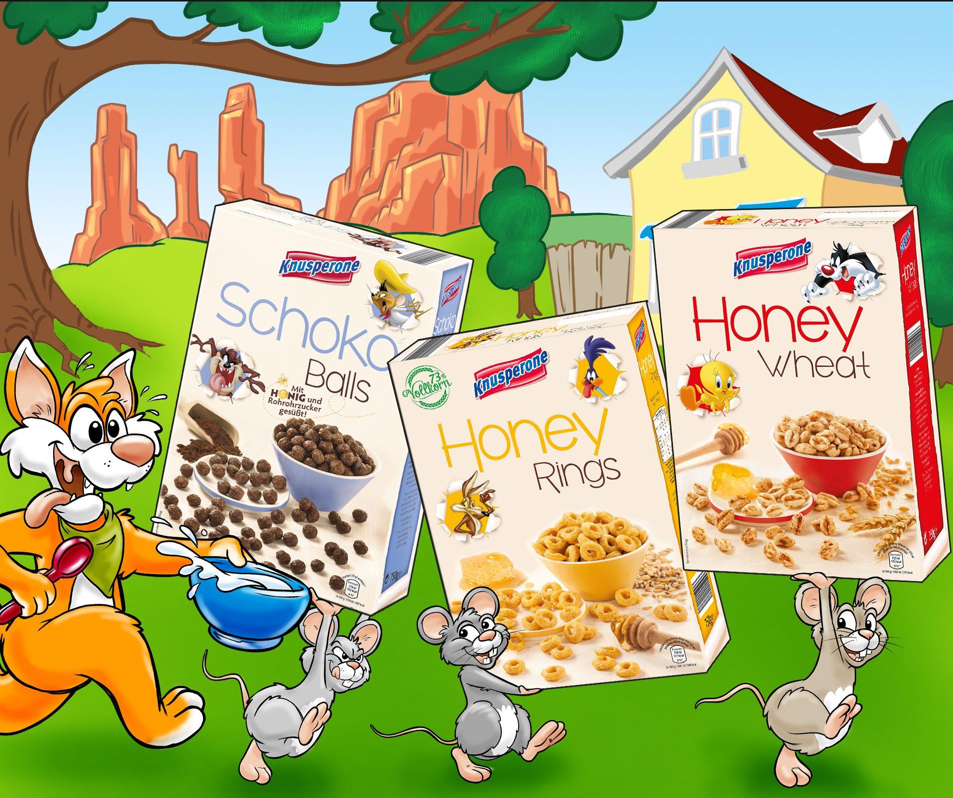 Verpackungsdesign Malvega: DeVauGe Kinder Cerealien
