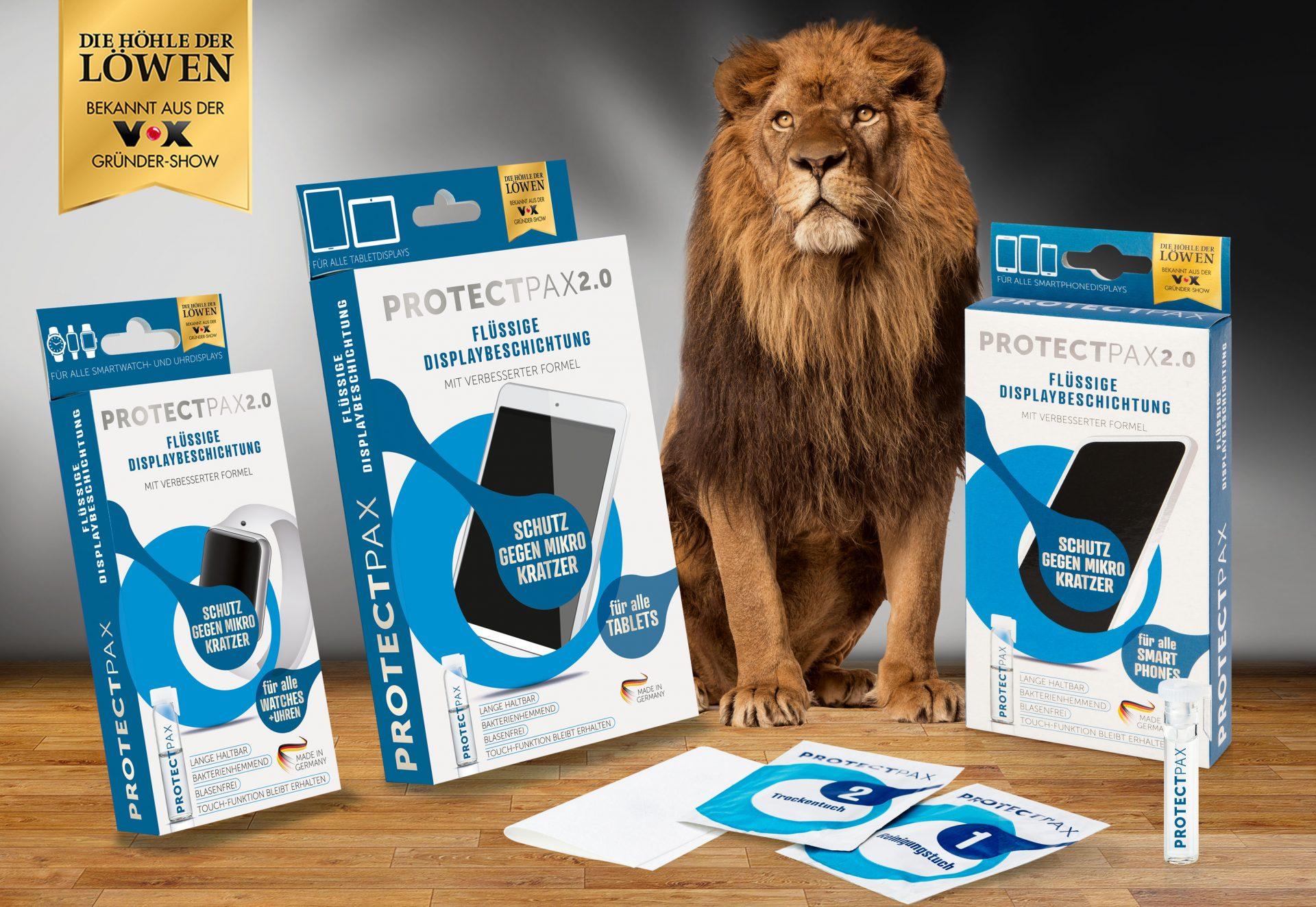 Verpackungsdesign Malvega - Referenz: Displayschutzfolie aus Die Höhle der Löwen
