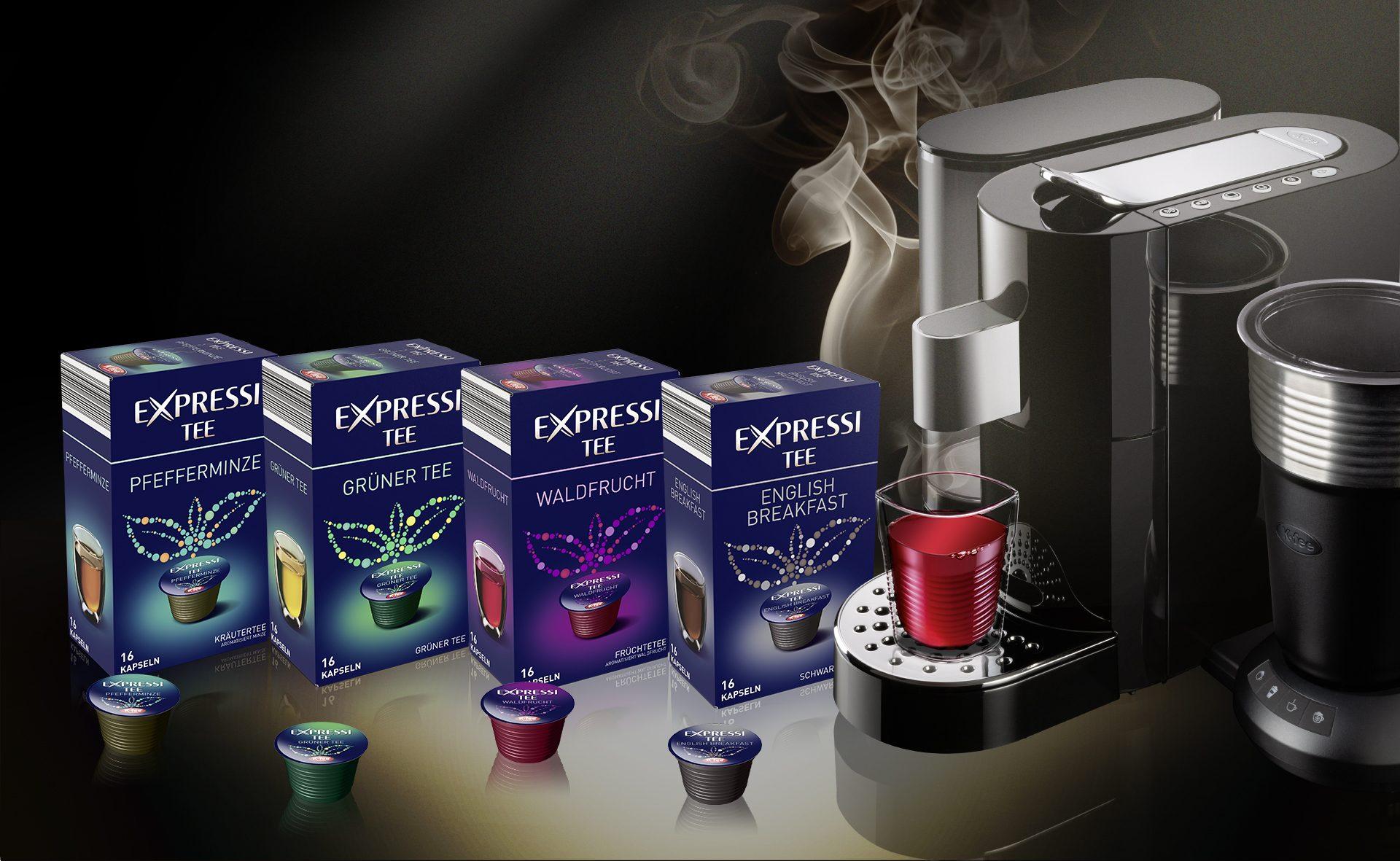 Verpackungsdesign Malvega: Expressi Tee