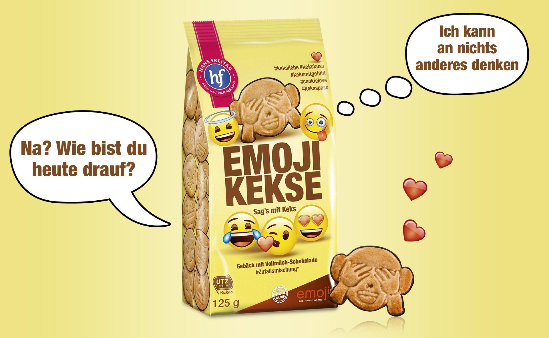 Verpackungsdesign Malvega: Hans Freitag Emoji Kekse