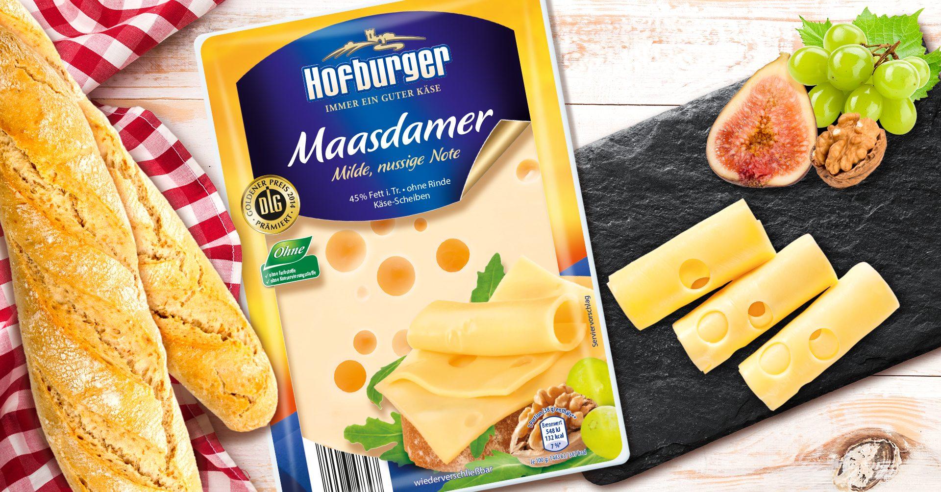 Verpackungsdesign Malvega - Referenz: Hofburger Maasdamer