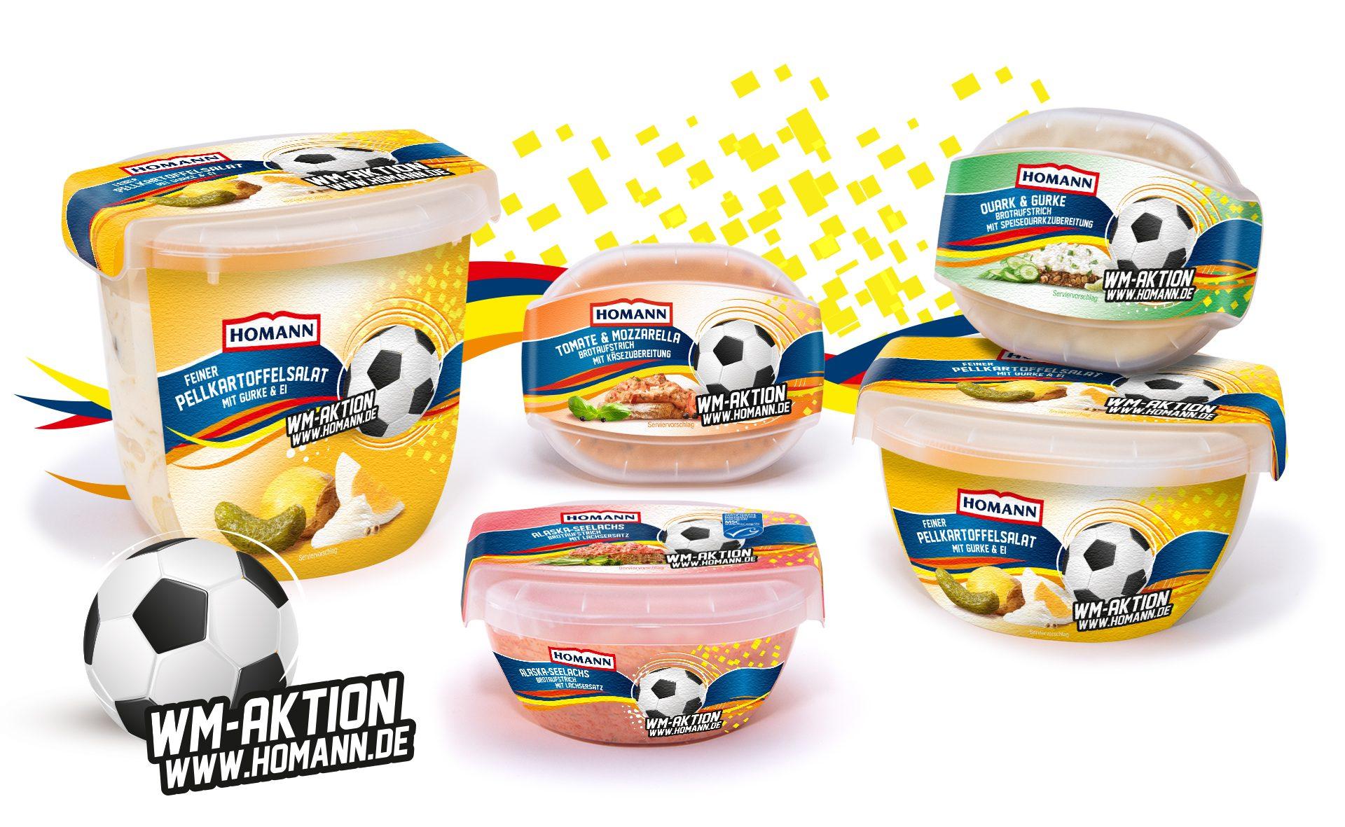 Verpackungsdesign Malvega: Homann WM Aktion