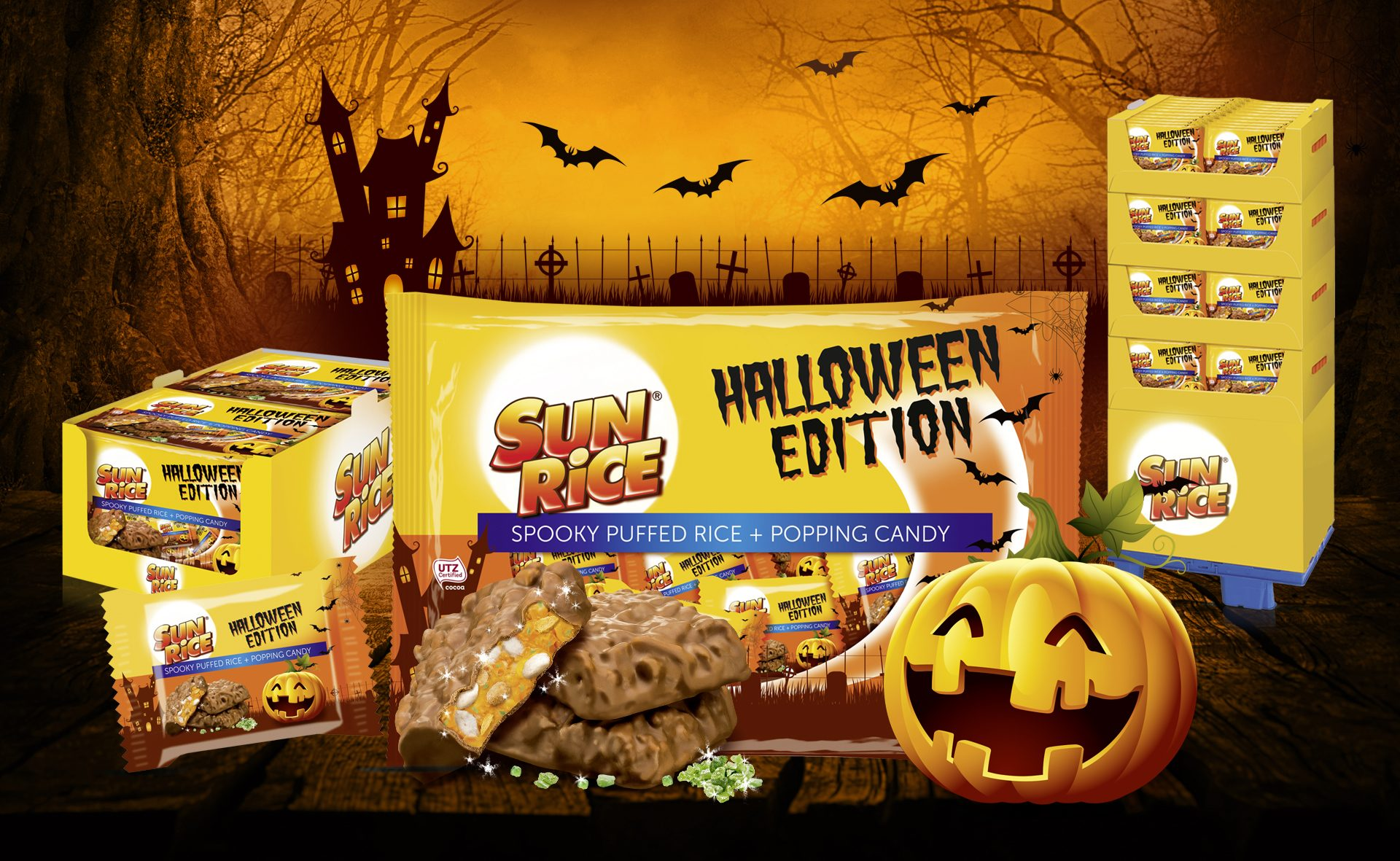 Verpackungsdesign Malvega - Referenz: SunRice Halloween, Rice