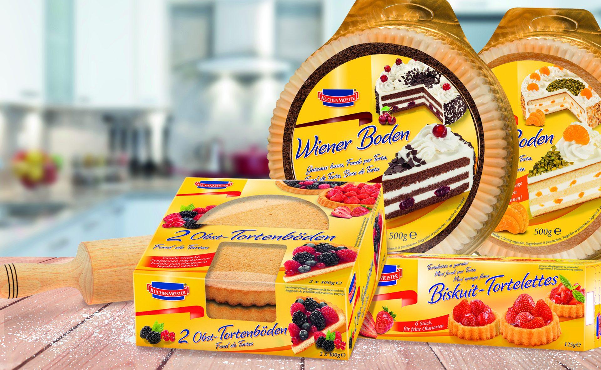 Verpackungsdesign Malvega - Referenz: Tortenboden, Kuchenmeister