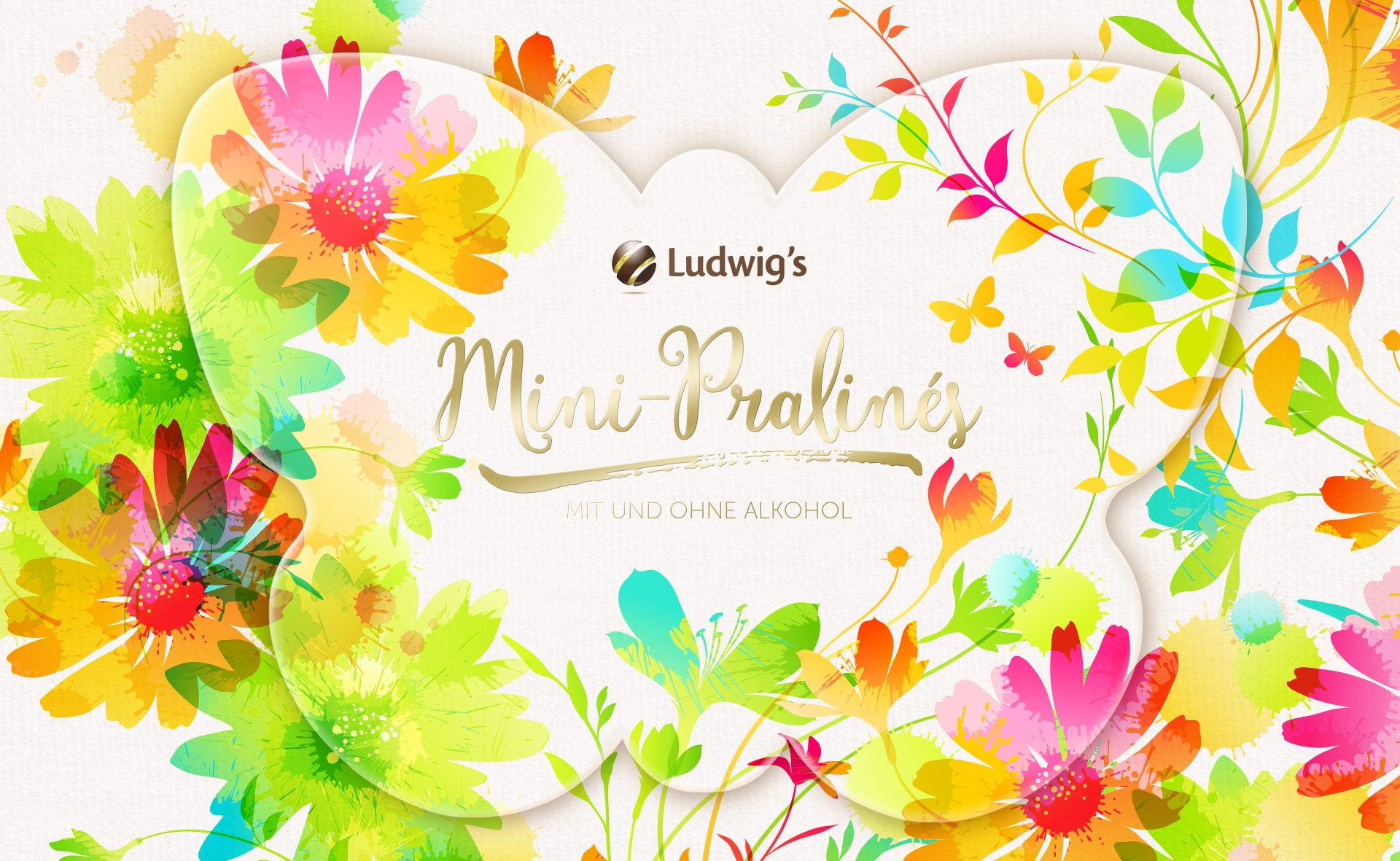 Verpackungsdesign Malvega - Referenz: Mini Pralinen Ostern, Ludwig's