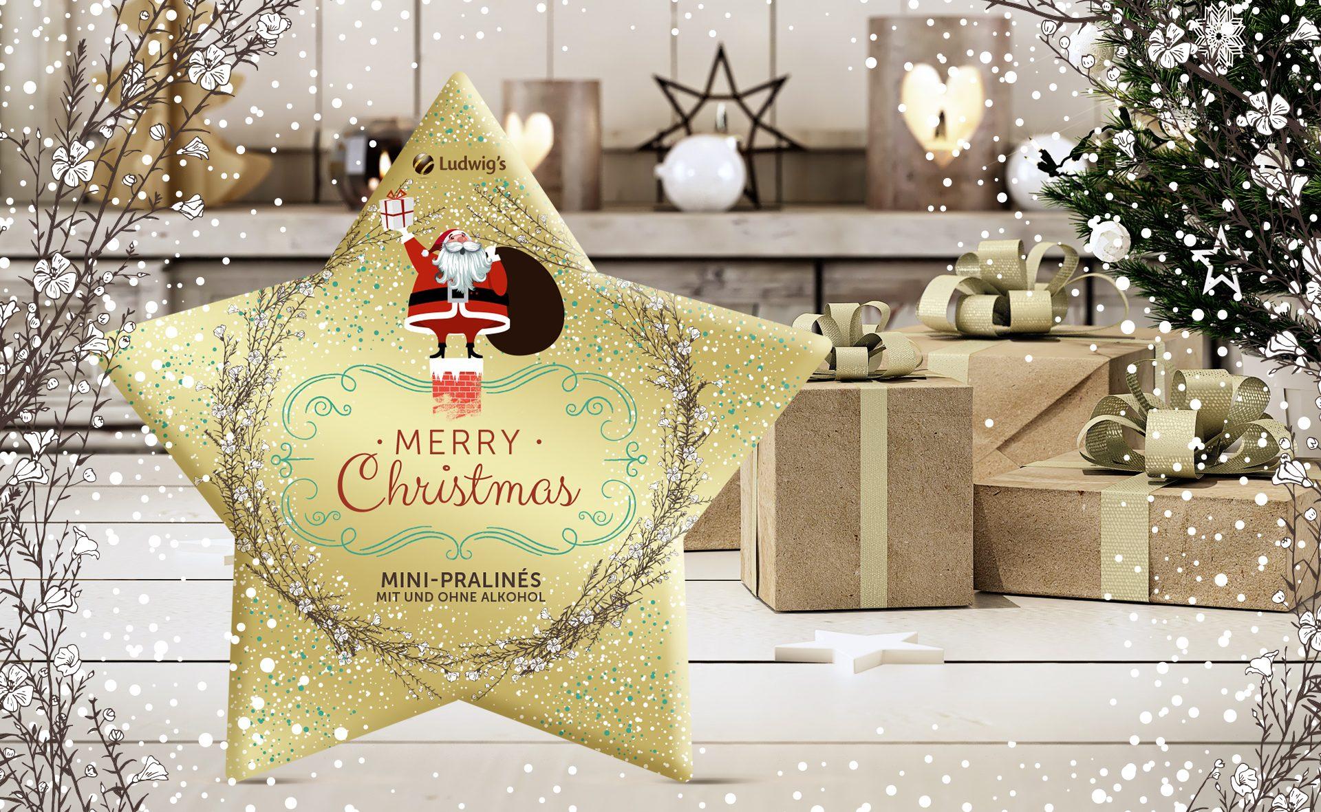 Verpackungsdesign Malvega - Referenz: Mini Pralinen Weihnachten, Ludwig's
