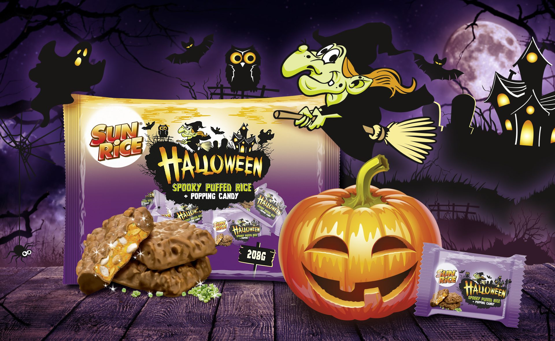 Verpackungsdesign Malvega - Referenz: SunRice Halloween, Aldi