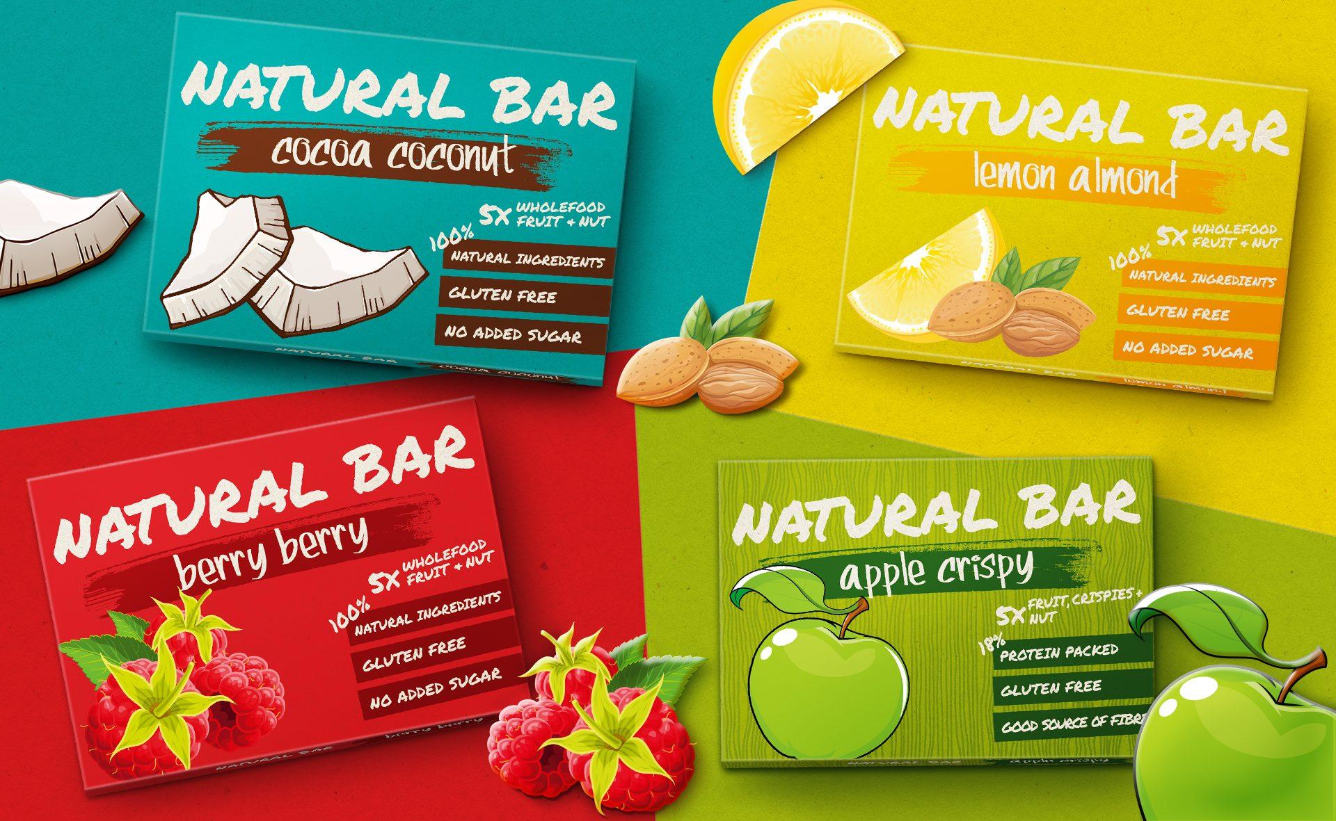 Verpackungsdesign Malvega - Referenz: Natural Bar von DeVauGe