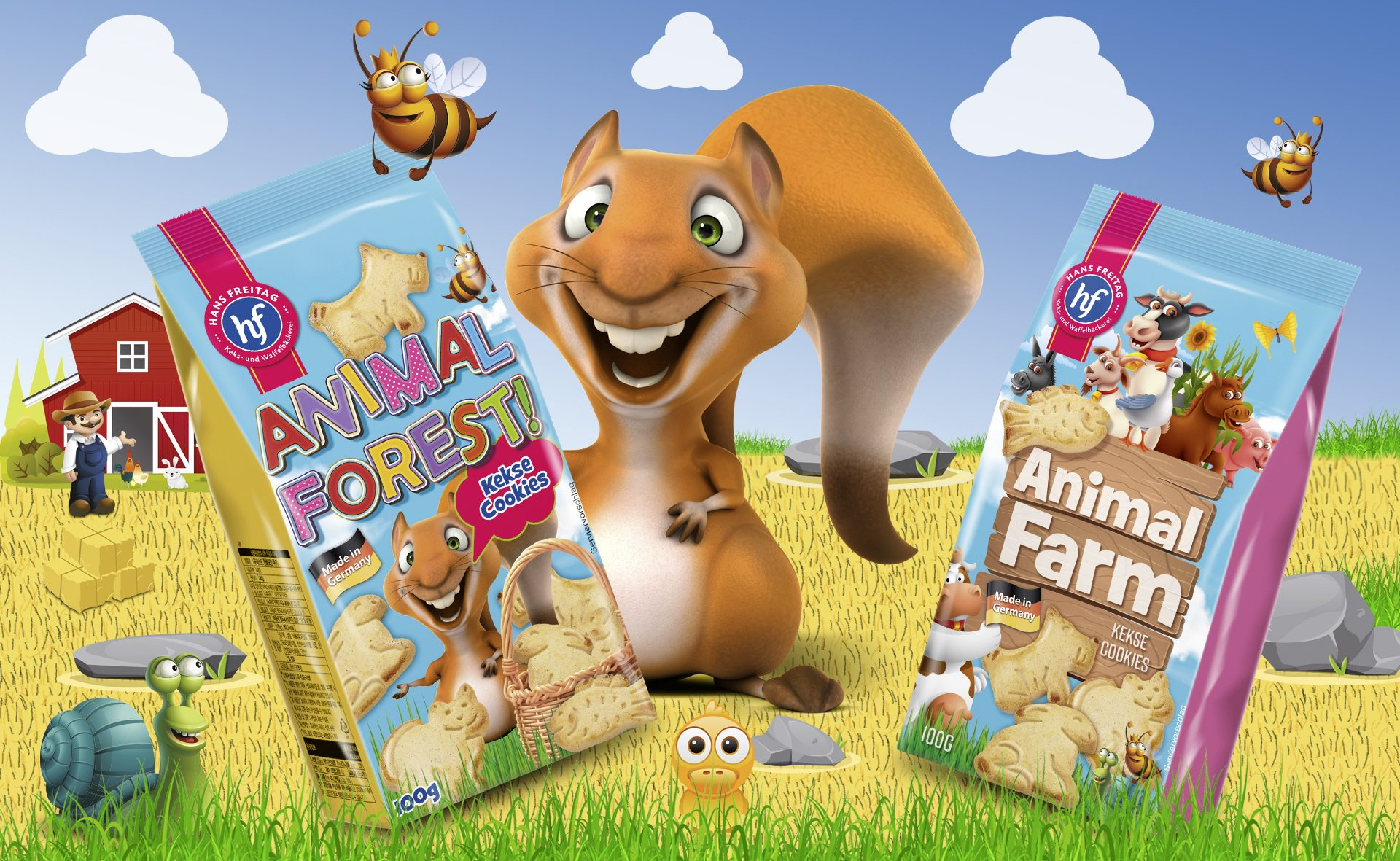 Verpackungsdesign Malvega - Referenz: Animal Farm von Hans Freitag