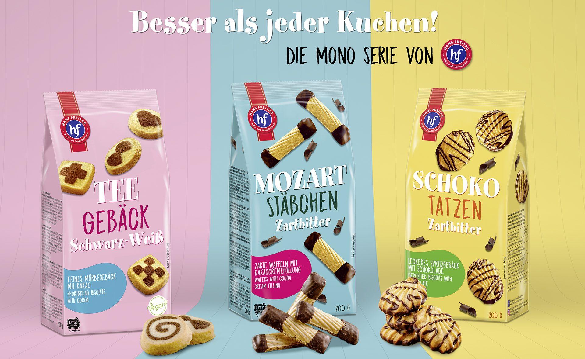Verpackungsdesign Malvega: Hans Freitag, Gebäck