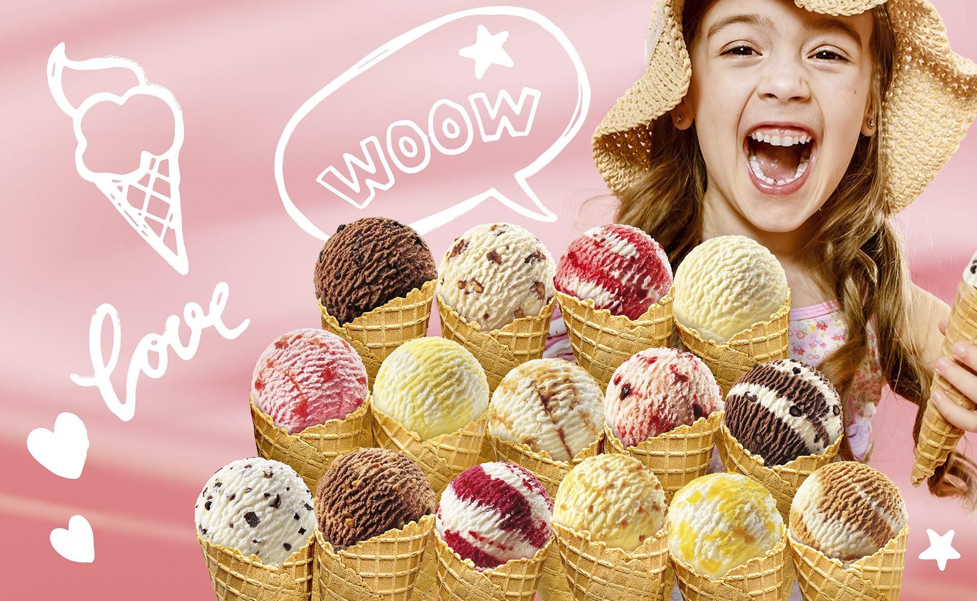 Verpackungsdesign Malvega - Referenz: Ronkadin Eissorten
