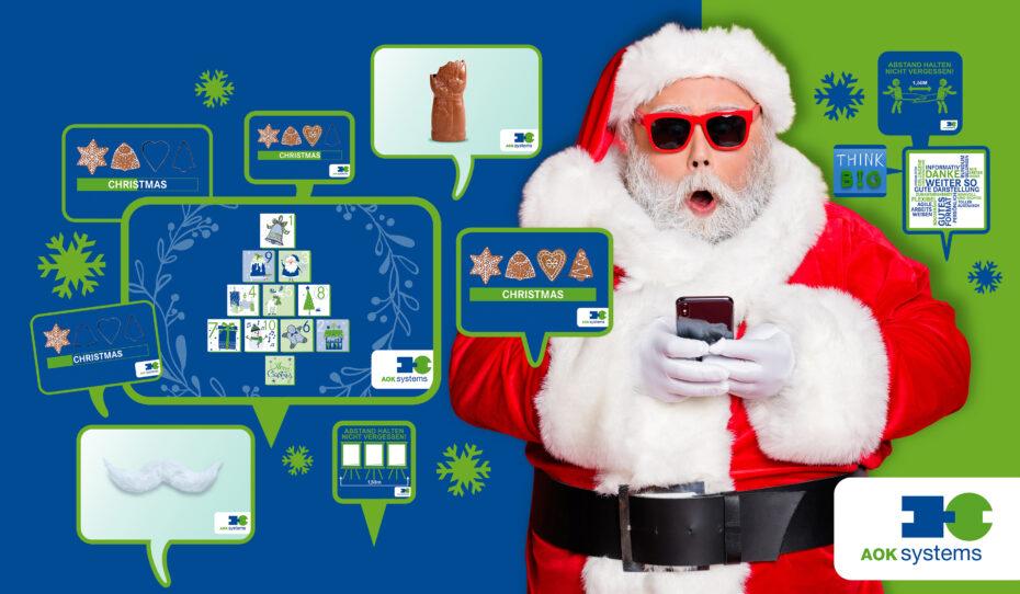Verpackungsdesign Malvega - AOK Systems, Weihnachtsgruß